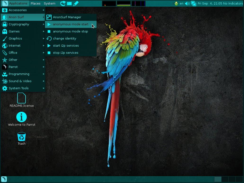Parrot distribuciones de Linux