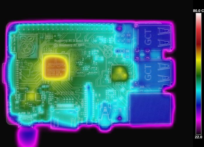 Lectura térmica de la Raspberry Pi 3 Model B+