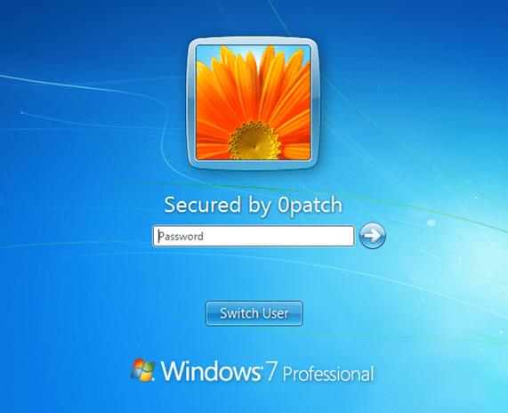Windows 7 protegido gracias a 0Patch
